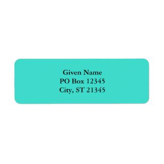 Turquoise Custom Return Address Label
