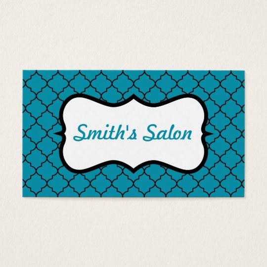 Turquoise Lace Business Card