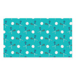 Turquoise lacrosse pattern business card
