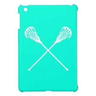 Turquoise Lacrosse Sticks iPad Mini Case
