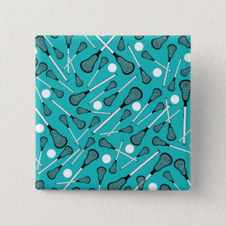 Turquoise lacrosse sticks pattern button