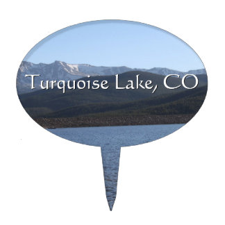 Turquoise Lake, Colorado Cake Topper