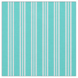 [ Thumbnail: Turquoise & Lavender Colored Lines Fabric ]