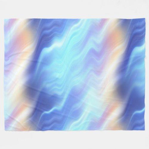 Turquoise Lavender Rose Swirl Fleece Blanket