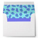 Turquoise & Lavender Zebra & Cheetah Skin Envelope