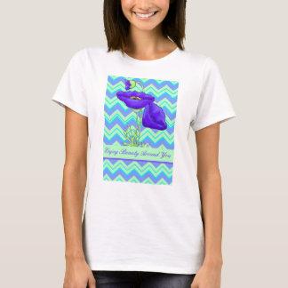 Turquoise Lavender Zizzag Chevron Purple Poppy T-Shirt