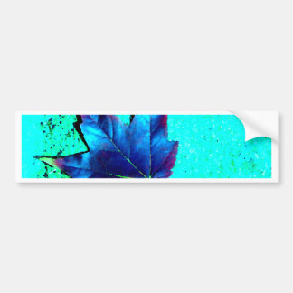 Turquoise - Leaf Nature - CricketDiane Art Bumper Sticker