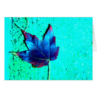 Turquoise - Leaf Nature - CricketDiane Art Card