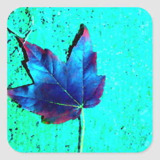 Turquoise - Leaf Nature - CricketDiane Art Square Sticker