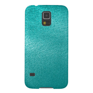 Turquoise Leather Look Case For Galaxy S5