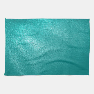 Turquoise Leather Look Kitchen Towel