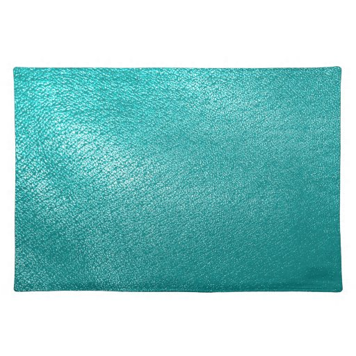 Turquoise Leather Look Placemats Zazzle