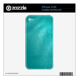 Turquoise Leather Look Decals For The iPhone 4