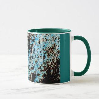 Turquoise Leaves Coffee Mug and Tea Mug