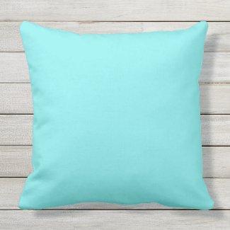 Turquoise Light Outdoor Throw Pillow 20x20