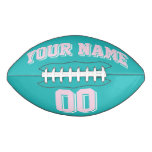 TURQUOISE LIGHT PINK AND WHITE Custom Football