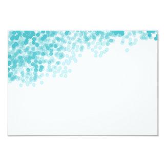 Turquoise Light Shower   Blank Insert Card