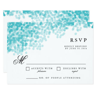 Turquoise Light Shower | Pretty RSVP Response Card