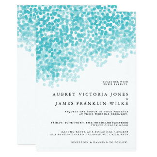 Turquoise Light Shower | Wedding Invitations