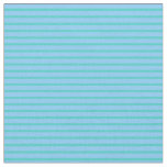 [ Thumbnail: Turquoise & Light Sky Blue Colored Lines Fabric ]