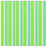 [ Thumbnail: Turquoise, Light Yellow, and Green Colored Lines Fabric ]