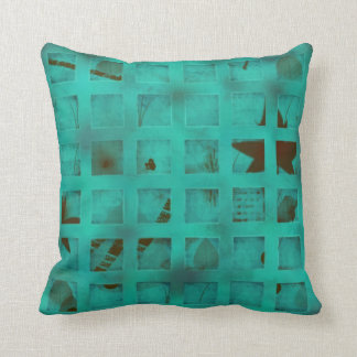 Turquoise lights in my bedroom throw pillow