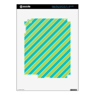 Turquoise Lime Green Stripes Pattern Decals For iPad 3