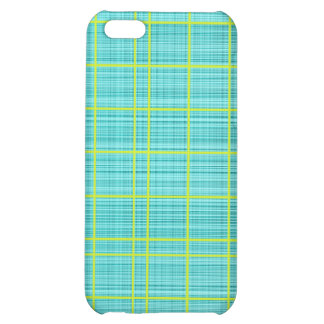 Turquoise/Lime Plaid Case iPhone 5C Covers