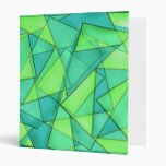 Turquoise & Lime Triangles Binder
