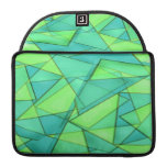 Turquoise & Lime Triangles MacBook Pro Sleeves