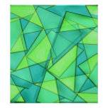 Turquoise & Lime Triangles Print