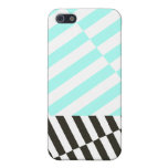 Turquoise Linear Abstract iPhone 5 Case