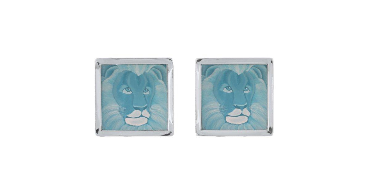 Turquoise Lion Cufflinks
