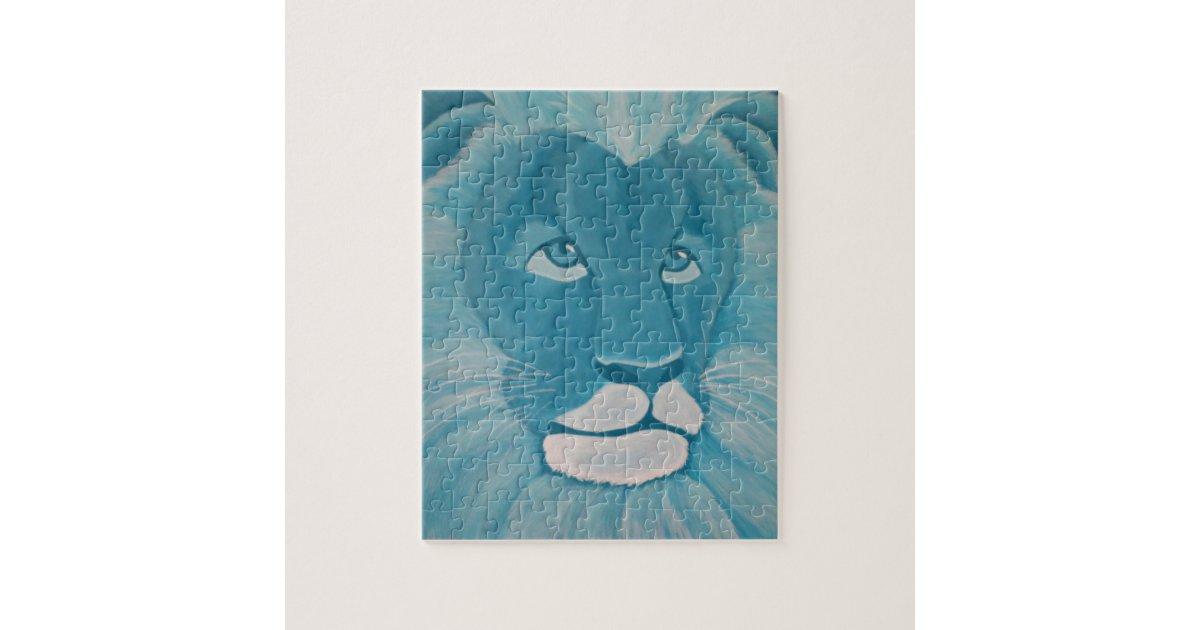 Turquoise Lion Puzzle