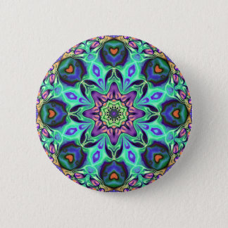 Turquoise Mandala Abstract Button