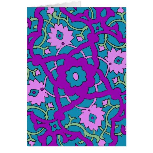 Turquoise Mandala Card