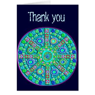 Turquoise Mandala Customizable Card