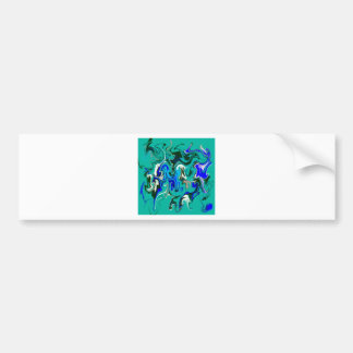 Turquoise marble texture bumper sticker