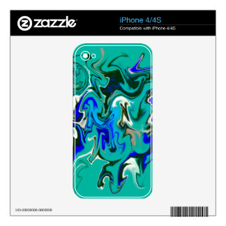 Turquoise marble texture skins for the iPhone 4