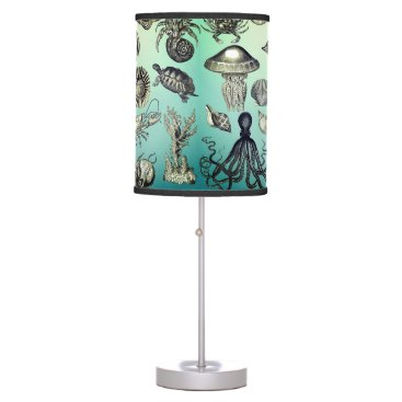 Turquoise, Marine Life Desk Lamp