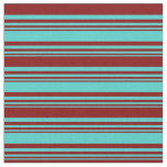 [ Thumbnail: Turquoise & Maroon Colored Pattern Fabric ]