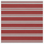 [ Thumbnail: Turquoise & Maroon Colored Striped/Lined Pattern Fabric ]
