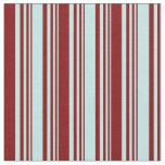 [ Thumbnail: Turquoise & Maroon Stripes Pattern Fabric ]