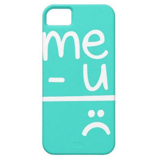 Turquoise Me Minus You Equals Sad Face Doodle iPhone SE/5/5s Case