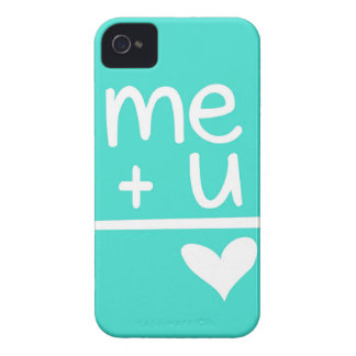 Turquoise Me Plus You Equals Heart Doodle Case-Mate iPhone 4 Case