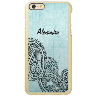 Turquoise Mehndi Motif Incipio iPhone 6 Plus Case