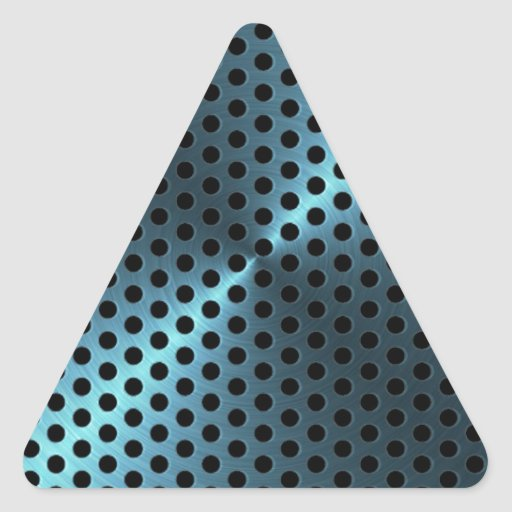 Turquoise Metal Triangle Stickers