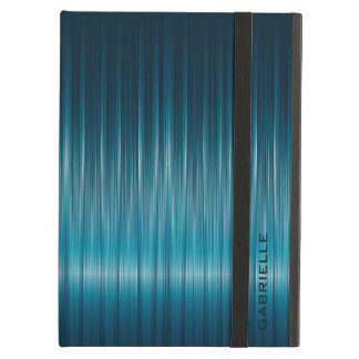 Turquoise Metallic Blue Carbon Fiber Texture iPad Air Cover