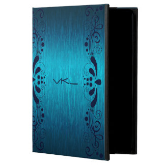 Turquoise Metallic Texture & Floral Blue Lace iPad Air Cases
