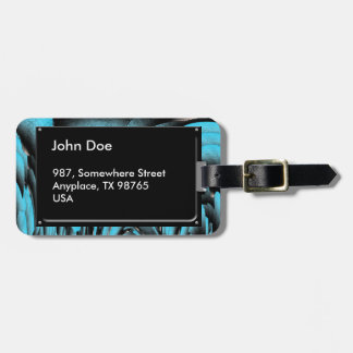 Turquoise mineral bag tag